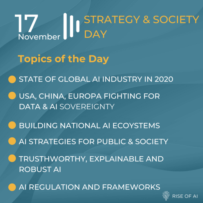 Rise of AI Summit 2020 - the next Decade of AI - Strategy Society Day