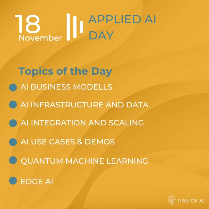 Rise of AI Summit 2020 - the next decade of AI - Applied AI